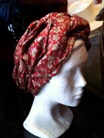Turban classique Réalise dans un tissus de sari